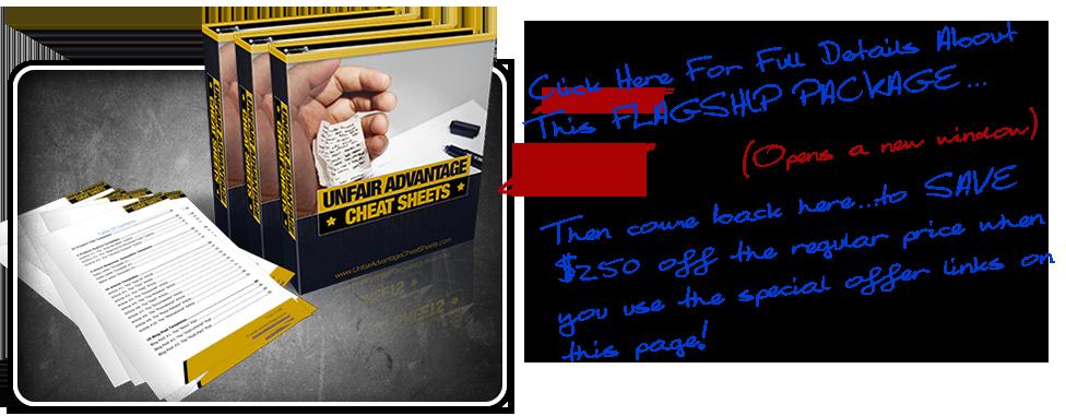Unfair Advantage Cheat Sheets Package